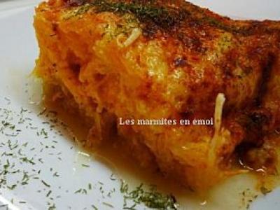 Gratin de courge spaghetti au cheddar - Photo par les_marmites_en_emoi