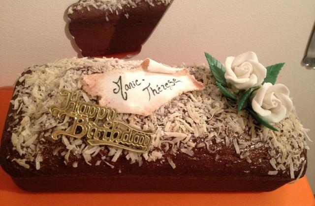 Cake saveur Bounty ultra léger - Photo par fairyc