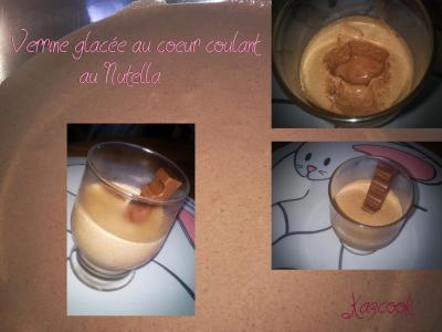 Verrine glacée au coeur coulant, au Nutella - Photo par karenps