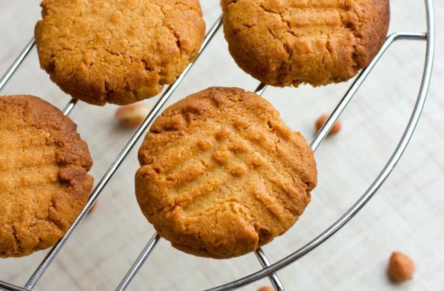 Cookies 3 ingrédients au beurre de cacahuètes - Photo par 750g