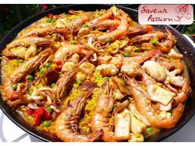 Paella de pescado - Photo par Tiuscha-blog Saveur Passion