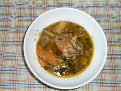 Curry vert de poulet aux trois fruits - Photo par CARDAMOME