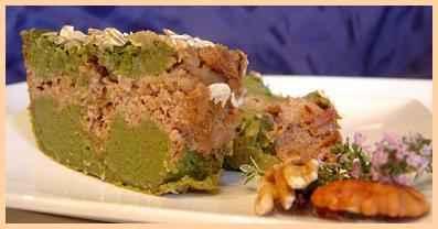 Cake marbré de haricots vert aux deux noix - Photo par claireIr
