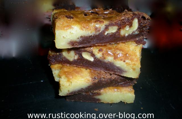 Brownies aux deux chocolats - Photo par rusticooking