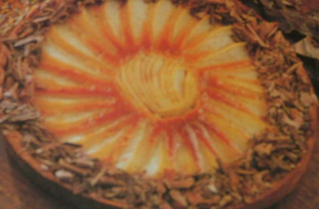Tarte au caramel et aux poires - Photo par capali