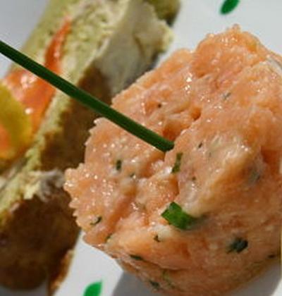 Roulé aux poireaux et son tartare de saumon - Photo par yzaboy