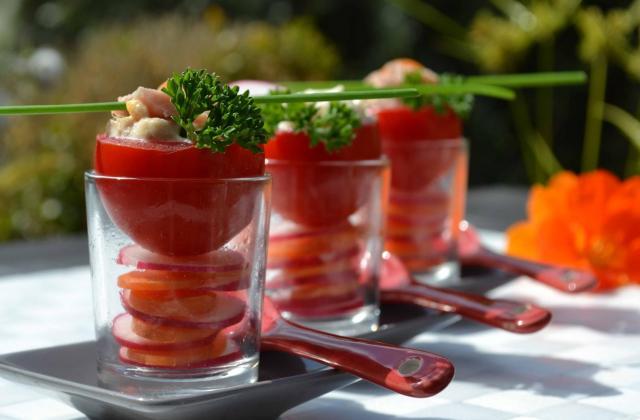 Tomates à la coque et carpaccio radis-carottes (verrines) - Photo par Communauté 750g