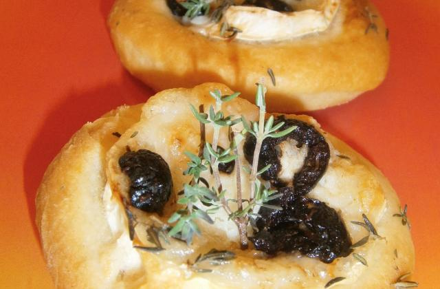Mini-fougasse chèvre, olives et thym - Photo par cuisine et partage