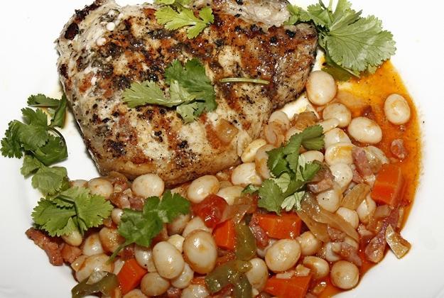 Poulet poché sauce suprème riz pilaf - Photo par cathynL