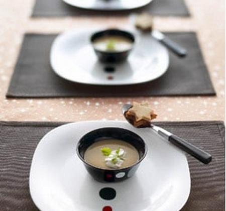 Veloute de châtaignes au foie gras - Photo par Luminarc