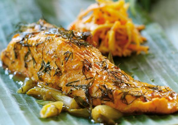 """Portion de saumon à l""""étouffée - Photo par Patak's"""