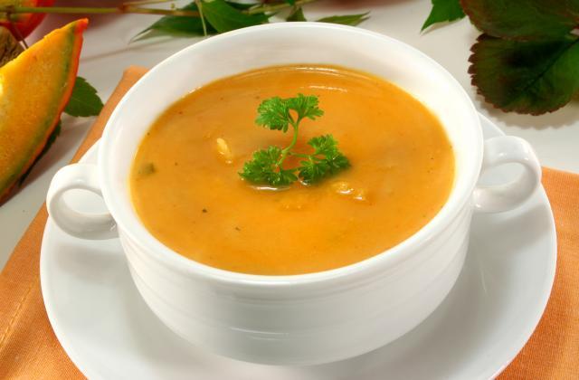 Soupe de potimarron cuite dans le lait - Photo par lachen