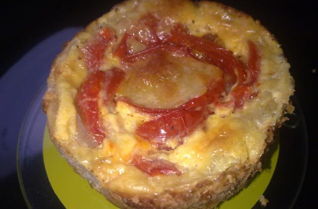 Tarte rougissante mozzarella, tomates cerises - Photo par Invité