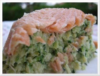 Timballes de courgettes au saumon - Photo par christgOm