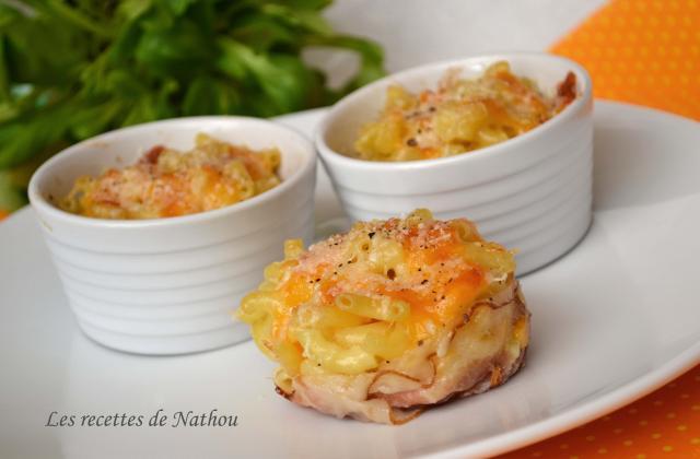 Mini-gratins de pâtes au lard et aux 3 fromages - Photo par Communauté 750g