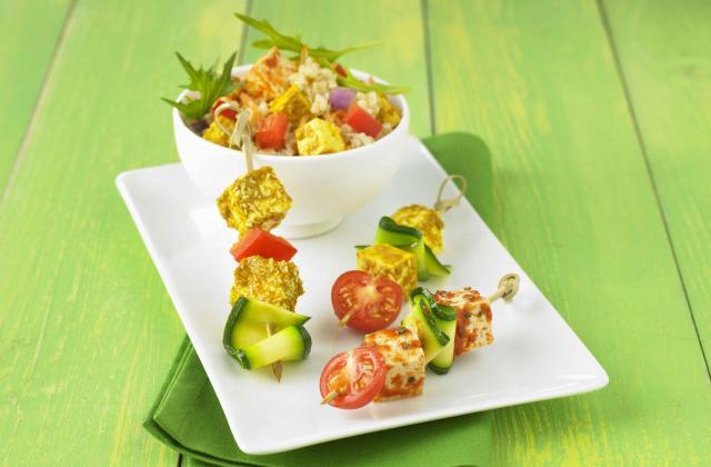 Salade de riz et Tofou' cubes - Photo par Soy