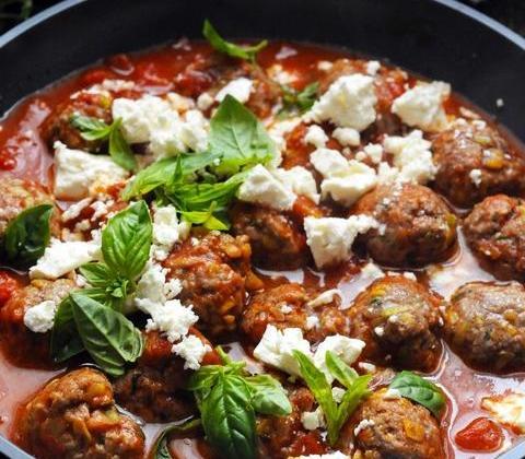 Petites boulettes d'agneau parfumées et tomates - Photo par Agneau Presto