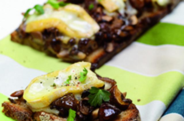 Tartine de reblochon aux champignons - Photo par Reblochon de Savoie