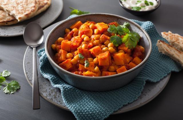 Curry de patates douces et pois chiches - Photo par 750g