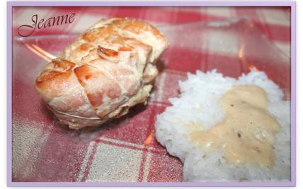 Escalopes de dinde farcies au jambon de parme et mozzarella avec sa sauce au parmesan - Photo par Jeanne la malice