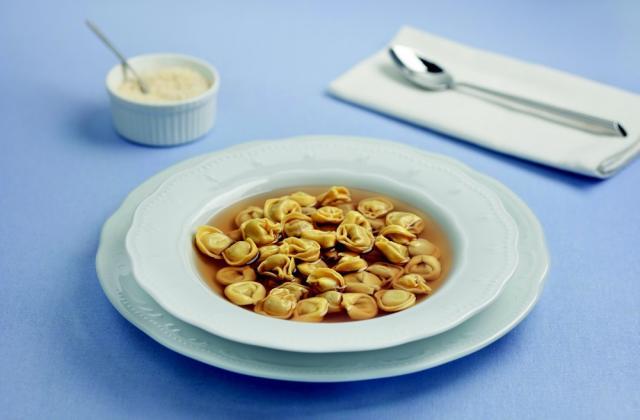 Soupe de Fagottini aux poireaux et lard - Photo par Barilla