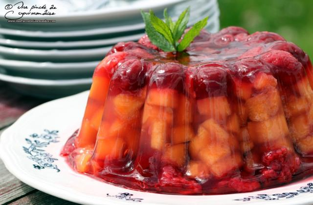 Aspic de melon, framboise et cerise - Photo par virginHd3