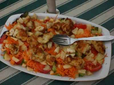 Salade au poulet pané - Photo par ac82ho