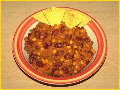 Chili con carne : un plat unanimement apprécié - Photo par biscottine