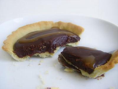 Tartelette chocolat-caramel - Photo par delphiB6