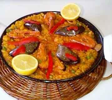 La paella aux fruits de mer - Photo par 750g
