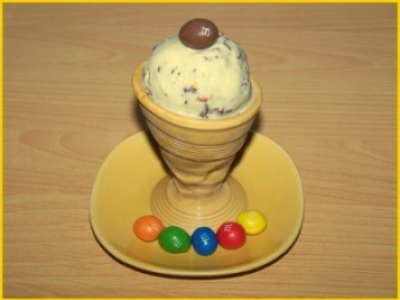 Glace aux M&m's - Photo par biscottine