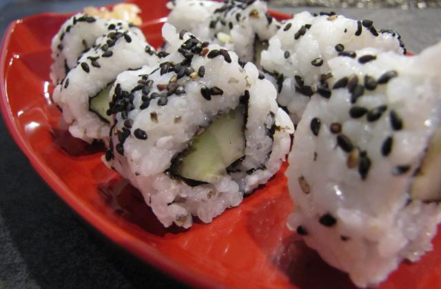 Makis california rolls au concombre - Photo par Evacuisine