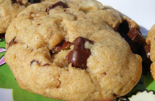 Cookies noisettes, spéculoos et chocolat - Photo par annebetty