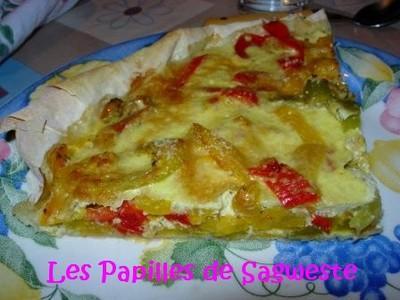 Tarte légère aux poivrons - Photo par sagweste