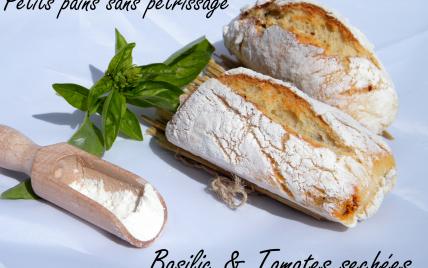 Petits pains sans pétrissage basilic tomates séchées - Photo par chouya