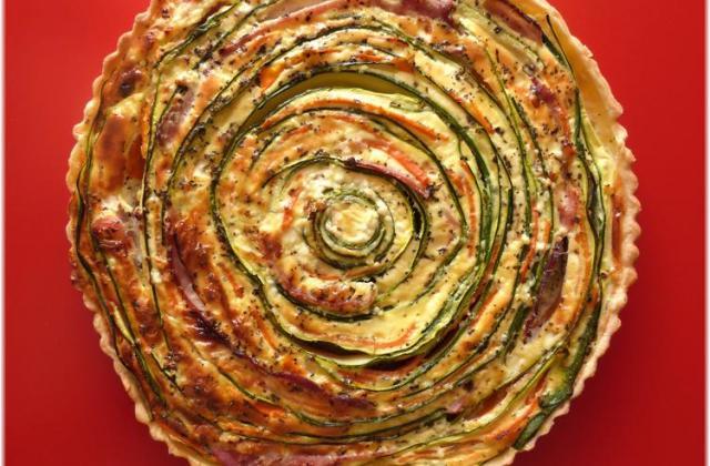 Tarte spirale courgettes-carottes jambon, St Môret® - Photo par Steph unegrainedidee