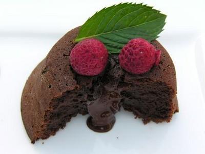 Moelleux coulant au chocolat noir corsé - Photo par latabledepenelope