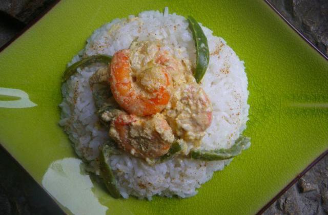 Curry de gambas et poivron vert - Photo par moum00
