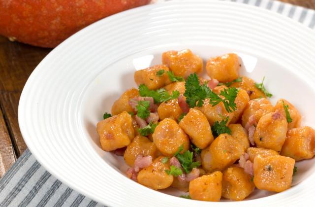 Gnocchis de potiron aux lardons - Photo par 750g