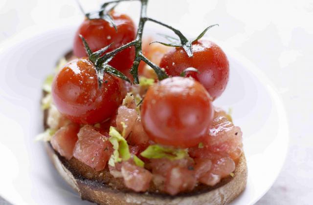 Crostini aux deux tomates - Photo par Tomates de France