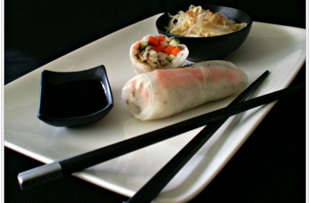 Rouleaux de printemps au surimi et sauce soja - Photo par Coraya
