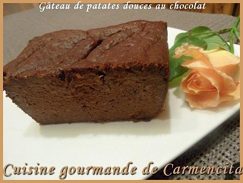 Gâteau de patates douces au chocolat - Photo par Carmen