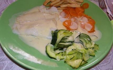 Filet de flétan sauce agrume et ses petits légumes - Photo par cojoca