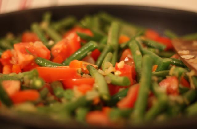 Haricots verts à la tomate - Photo par cheron