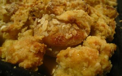Crumble de boudins blancs aux pommes - Photo par noviceencuisine