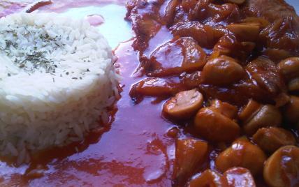 Escalope de dinde, sauce chasseur aromatisée au cidre - Photo par carose