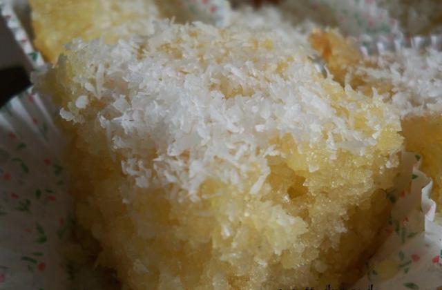 Basboussa à la noix de coco! - Photo par nadegeferrus