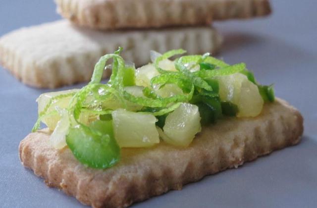 Sablés au citron vert et sa compotée de poivron vert et ananas - Photo par chopin5