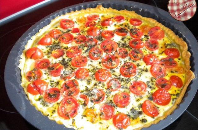 Tarte tomate cerise et mozzarella - Photo par cuisinemoi