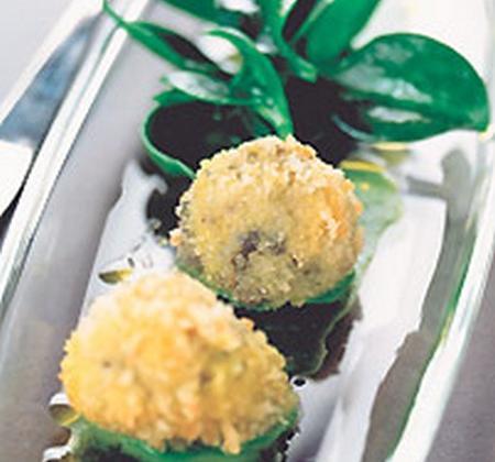 Croquettes de chèvre frais, escargots et volaille - Photo par Fromages de Chèvre